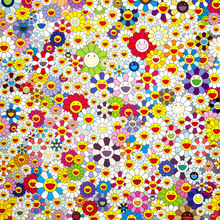 Murakami Takashi Works Sun Flowers (Group II) C Print Oil Painting on Cotton Canvas Painting Abstract Wall Art