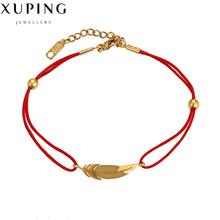 Fashion Jewelry red string bracelet women feather Charms love handmade bijouterie womens clothing accessories Wholesaler C017390(China)