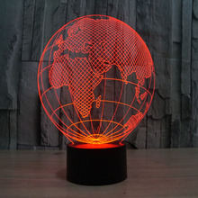 3D Europe Map Led Lights USB charge 7 Colors Changing Night Light Promotional Gifts(China)
