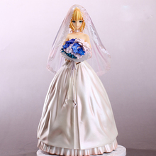Fate guard night Anime Action Figure Maiden cartoon characters sexy pretty girls Wedding dress Action Figure toys model doll(China)