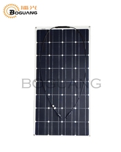 100W flexible Solar Panel for solar powered fishing boats backside connection for 12V solar panel module battery solar charger