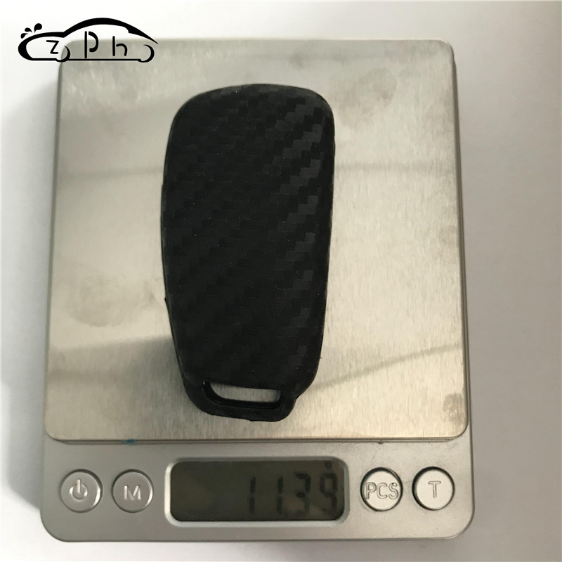 for Audi New Key TM Soft Silicone Carbon Fiber Style Smart keyless Remote Key Fob case Cover for Audi A3 A4 A5 A6 A7 Q3 Q5 Q7 C5 C6 B6 B7 B8 TT 80 S6 A6 C6 Keychain Royalfox