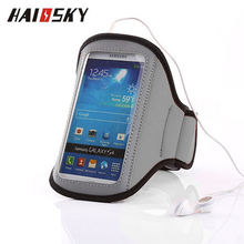 Haissky Universal Running Sport Phone Pouch Cover For iPhone 5 5S SE 5C 4 4S Arm Band Cases For Samsung Galaxy S3 S4 mini Case