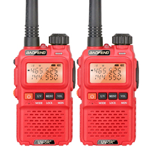 2PCS Original Mini Amateur Walkie Talkie Baofeng UV-3R+ Dual Display Transceiver with Headset(China)