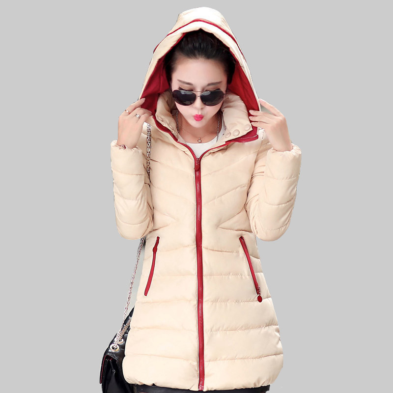 Vogue New Style 2015 Female Cotton  Han Edition Womens Long Section Solid Color Hooded Winter Women Cotton-padded Jacket W0066Одежда и ак�е��уары<br><br><br>Aliexpress
