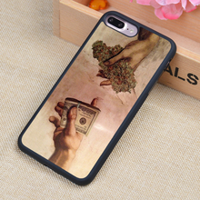 Drug Dealer Money Weed Printed Phone Case Skin Shell For iPhone 6 6S Plus 7 7Plus 5 5S 5C SE 4 4S Rubber Soft Cell Housing Cover