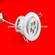 High Power LED Downlight dimmable , 15W ,5x3W LED Dimmable down light , 12pcs,free shipping