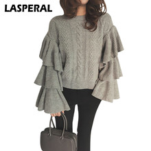 LASPERAL Autumn Sweaters Women 2017 Knitting Sweaters Pullovers Long Sleeve Female Poncho Knitted Christmas Sweater Z30