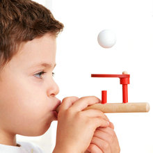 Kids Wooden Blow Ball Rod Toys Baby Puzzle Blowing Ball funny Balance Training Floating Ball Children Boys Girls Educational Toy(China)