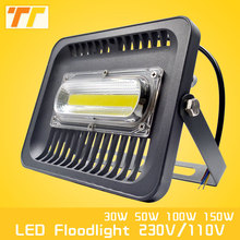LED Flood Light 100W 50W 30W Floodlight IP65 Waterproof AC220V 230V 110V Spotlight Refletor LEDs Outdoor Lighting Garden Lamp(China)