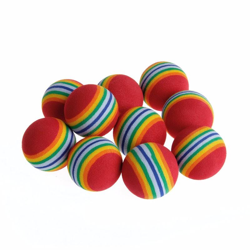 10pcs colorful ball interactive cat toys 10Pcs Colorful Ball Interactive Cat Toys HTB1UO1KOXXXXXcmapXXq6xXFXXXH