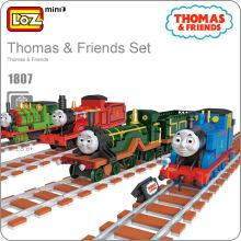 LOZ ideas Mini Block Thomas Friends Train Set Model DIY Bricks Toy ABS Children Gift Building Blocks Christmas Birthday Kid 1807