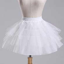 Free Shipping White Tulle Girls Petticoat Slip With No Hoop Short Underskirt For Ball Wedding Dress 2017 New Arrival