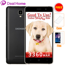 Case+film)gift!Original Doogee x10 3360 Mah 3G WCDMA Android 6.0 8GB ROM MTK6570 5.0MP Camera Dual SIM 5.0 inch IPS Cell Phone