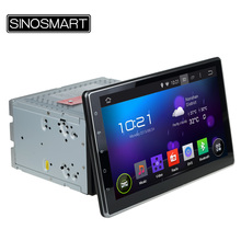 SINOSMART Universal Model 2 DIN 10.1'' Quad Core 1.6GHz CPU Android 5.1 Car DVD GPS Navigation Player Canbus Optional