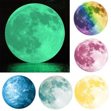 30cm Luminous DIY 3D Wall Stickers Kid'S Room Wall Sticker 5 Patterns Earth Moon Earth Planet Decal Moonlight Home Decor