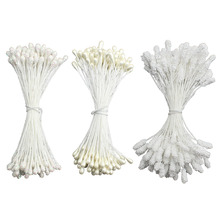Free Shipping 200PCS one lot 3mm pearl foam Glass stamen to colors for flowers nylon stocking making(China)