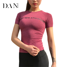 DANENJOY HOT Women's Gym T-Shirt Yoga Top Sport T Shirt Fitness Clothing Yoga Shirts Sports Jerseys Female Gym Running Tank Tops(China)