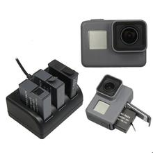 Worth buying Battery Charger 3 Slots Charging Multi Battery 1 piece x USB Line for Gopro Hero 5 Camera#73(China)