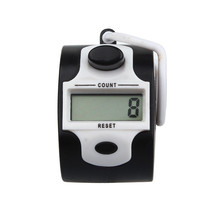 Fashion 5 Digit Electronic LCD Digital Hand Tally Plastic Counter Golf(China)