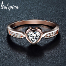 Iutopian Brand Elegant Heart Rings For Women Lover With Top Quality CZ Two Colors Mini Rings Gift For Girlfriend #RA10574