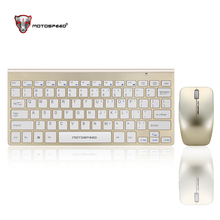 New Motospeed Ultra slim 2.4G Wireless Keyboard Mouse Combo for IPAD MAC LAPTOP TV BOX Computer PC Tablet with USB dongle G9800