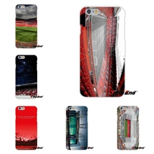 For iPhone 4 4S 5 5S 5C SE 6 6S 7 Plus Manchester Old Trafford Stadium Soft Silicone Cell Phone Case Cover