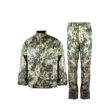 Jungle python pattern camouflage suits military fans male special forces combat uniforms CS training uniform hunting suit(China)