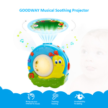 GOODWAY Musical Projection Lamp Toddlers Sleep Soother Sleep Light Toys for Baby Child Bedroom Living Room New Year Gift 2018(China)
