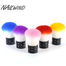 NAILWIND 6 Colours Nail Soft Brush Cleaner Acrylic and UV Gel Polish Manicure Nail Arts Dust Cleaning Brush Tools(China)
