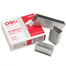 23/23 Deli Metal office Silver Standard Normal Staple Stainless Staples Stationary Goods(China)