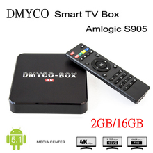 [Genuine] DMYCO-BOX H96plus Android 5.1 Smart TV Box Amlogic S905 2GB 16GB Quad-core Media Player Set Top Box Same as H96 Plus(China)