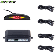 With 4 Sensors Car LED Parking Sensor de estacionamento Assist Reverse Backup Radar Monitor System Backlight Display parktronic