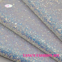 3pcs--High Quality top-level chunky glitter leather/Synthetic leather/DIY fabric 20x22cm per pcs(China)