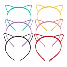 black cat ears head bands kids fashion for Women Girls Hairband Sexy Self Headband party Photo Prop Animal Hair hoop Accessories(China)