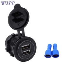 New Arrival Car-styling 5V 3.1A Dual USB Charger Socket Adapter Power Outlet for 12V 24V Motorcycle Carmr31