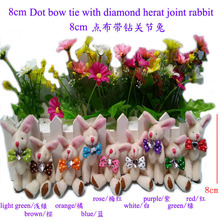 free shipping 8cm small size mini rabbit jointed plush stuffed doll bouquet toy wholesale 10pcs/lot,jointed rabbit,Easter gift t