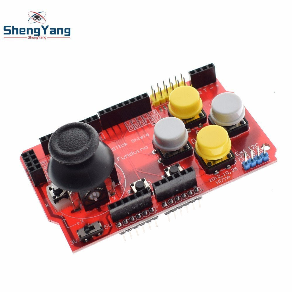 10pcs Gamepads Joystick Keypad Shield Ps2 For Arduino Uno R3 Cnc Ky 023 Analog Dual Axis Xy Joy Stick Module 23 Shengyang Expansion Board Keyboard And Mouse Function