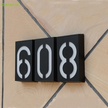 CARPRIE Solar Power LED Light Sign House Hotel Door Address Plaque Number Digits Plate l70220 DROP SHIP(China)