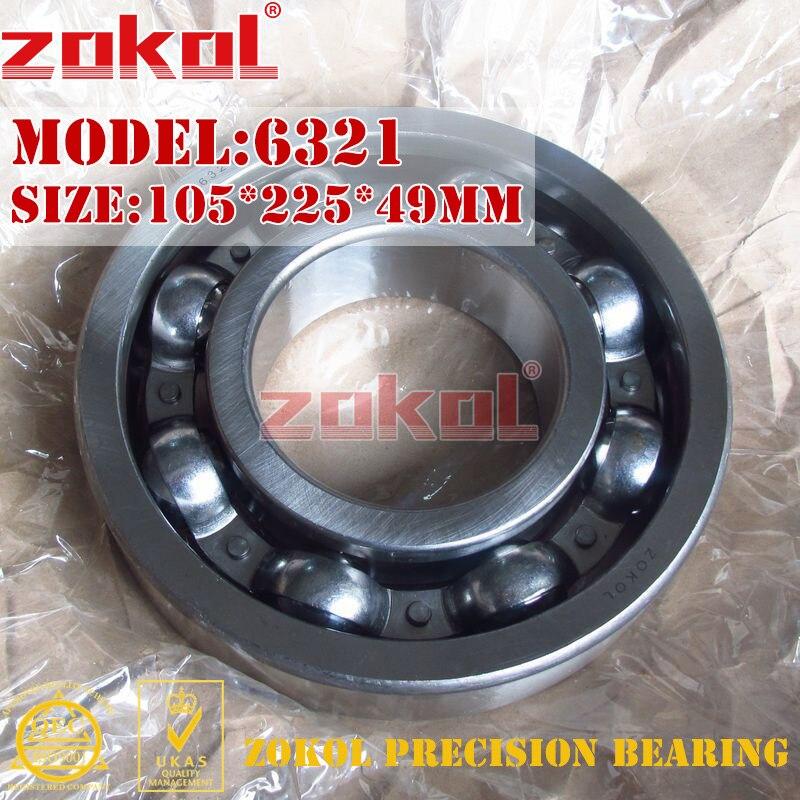ZOKOL bearing 6321 321 Deep Groove ball bearing 105*225*49mm<br>