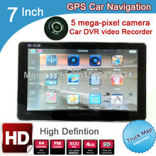 7 inch HD GPS Navigation Car DVR Recorder 720P 5 mega 2015 Maps  Russia/Belarus/Kazakhstan Europe/USA Canada Vehicle/ TRUCK Navi