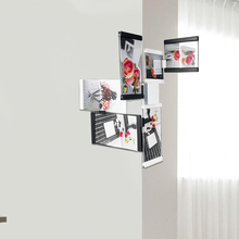 LEGGYHORSE 6pcs/set 3D Puzzle Photo Frames Acrylic DIY Removable Collage Cube Picture Frame With Sucker Walls Home Office Decor(China)