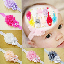 12 Pcs/lot Different Colors Kids Girls Flower Hairband Headband Headwear Hair Bow Band Accessories