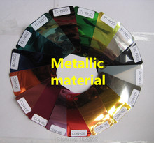 CDN-03 copper color metal transfer vinyl, heat transfer metal pu metal  film for garments with size:50X100CM