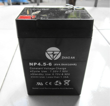 New 6v 4.5ah 70x47x101mm VRLA battery sealed lead acid battery rechargeable deep cycle battery 4.5ah 4ah