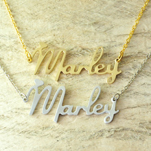 Custom Alloy necklace name necklace new font style Choose any name, personalized jewelry with heart(China)