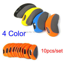 Free Shipping 10pcs/set Multi Color Golf Head Cover Club Iron Putter Head Protector Golf Clubs