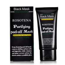 ROSOTENA Face Care Deep Peel Off Black Head Mud Black Mask Deep Cleansing Blackhead Pimple Remover Face Mask Blackheads Nose(China)