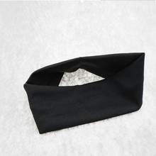 Women Plain Hair Band Headband Elastic Workout Hairbands Hairwear High Quality Black