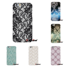 Sexy Lace Floral Paisley Flower Mandala Henna Soft Silicone Cell Phone Case For Samsung Galaxy Note 3 4 5 S4 S5 MINI S6 S7 edge
